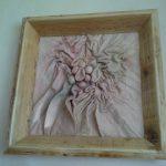 Hand gemakten lijsten van gebruikt steigerhout