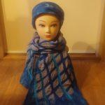 setje haarband met sjaal